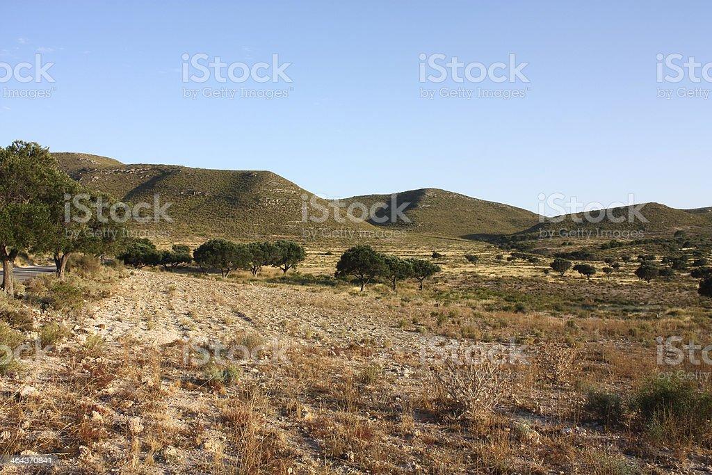 Desert of Almeria stock photo