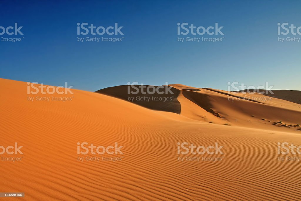 Desert of solitude stock photo
