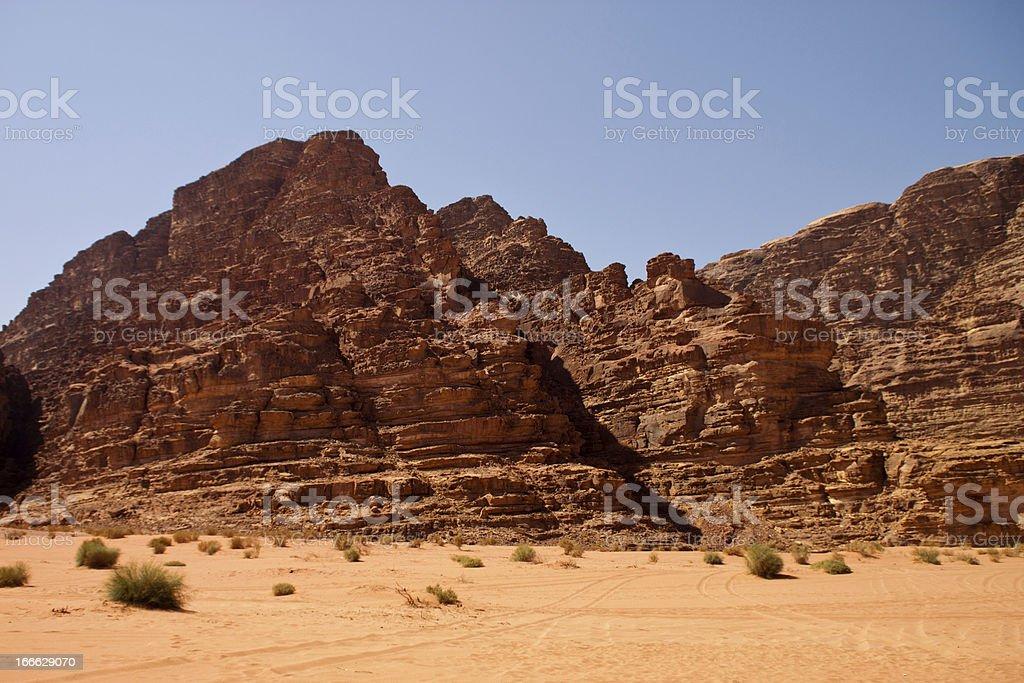 Desert of Wadi Rum royalty-free stock photo