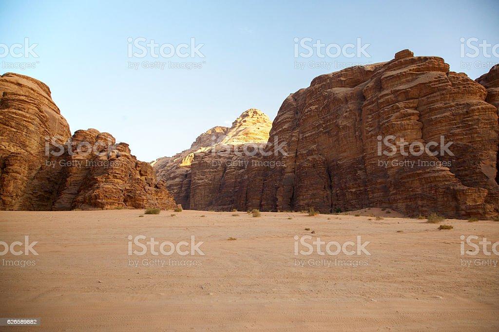 Desert of Wadi Rum stock photo