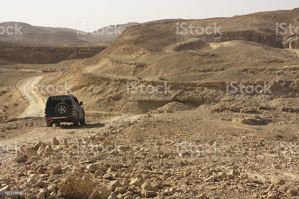 Desert off road trip royalty-free stock photo