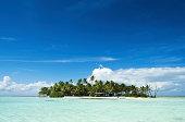 Desert or uninhabited island in the Pacific Ocean