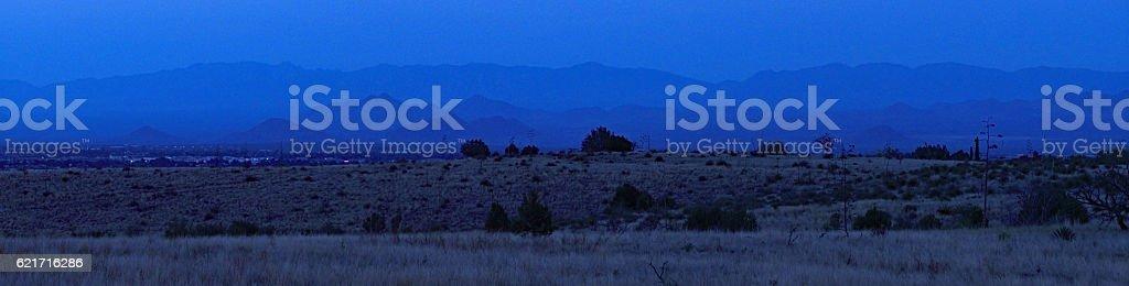 Desert Panoramic at Dusk stock photo