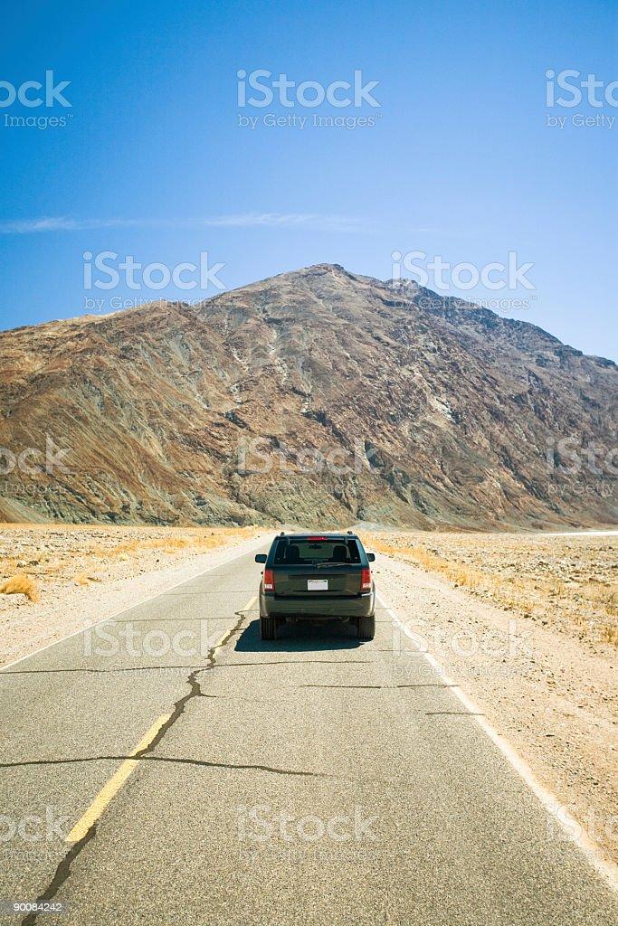 SUV - Desert royalty-free stock photo