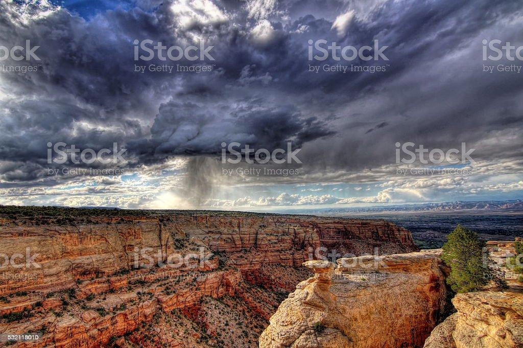 Desert Rain stock photo