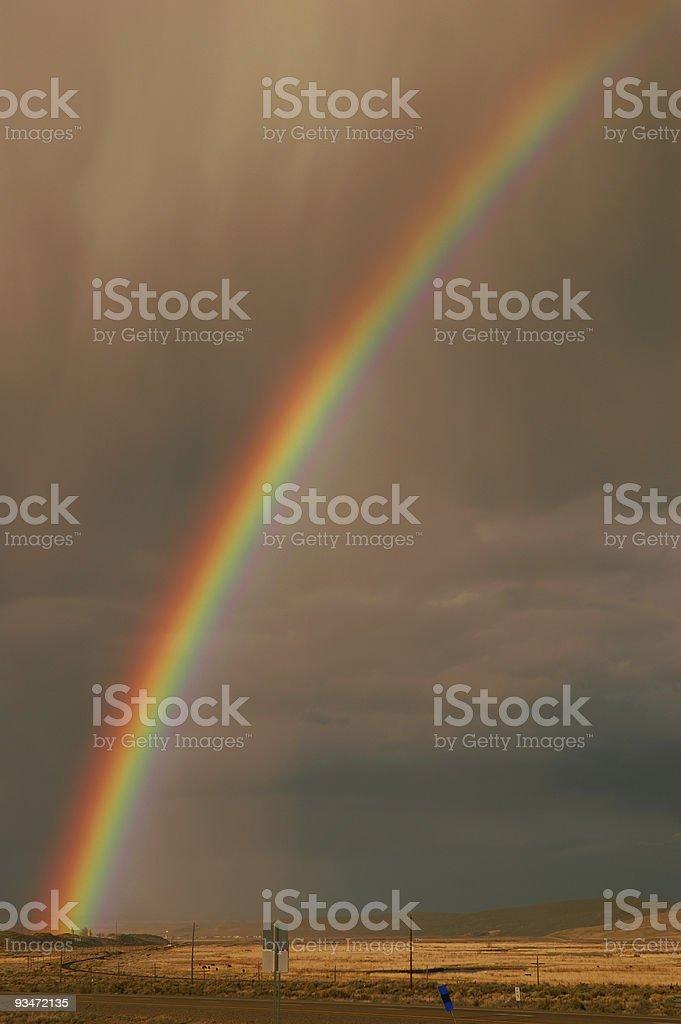 Desert Rainbow stock photo