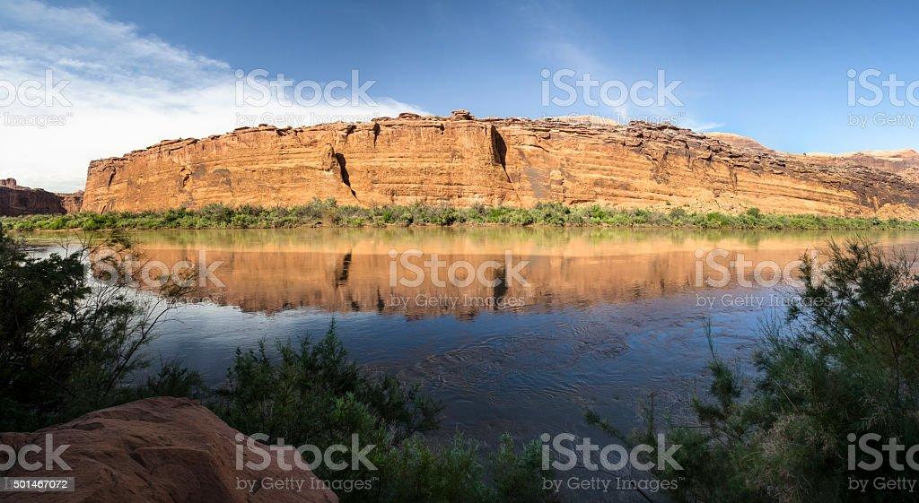 Desert River Reflections stock photo