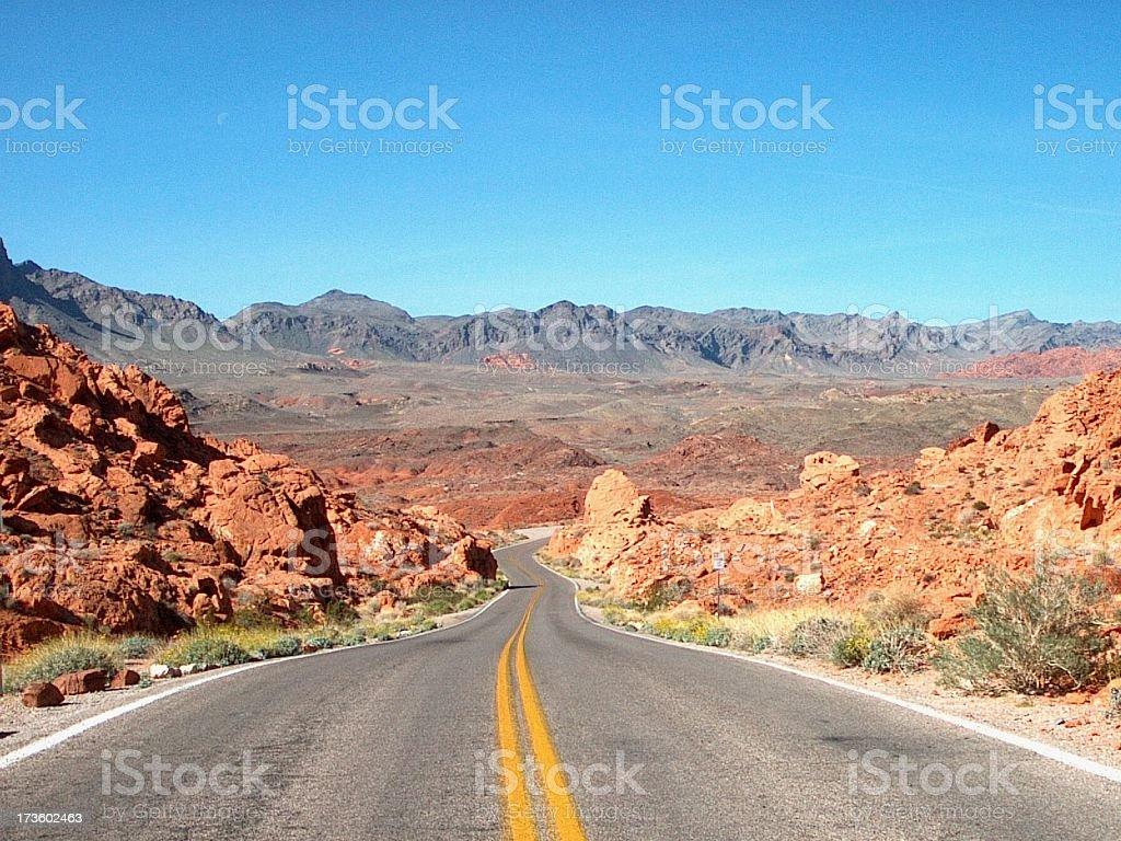 Desert Road - 6 royalty-free stock photo