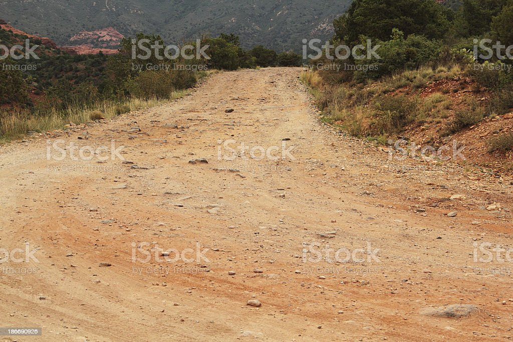 Desert Road Arizona royalty-free stock photo