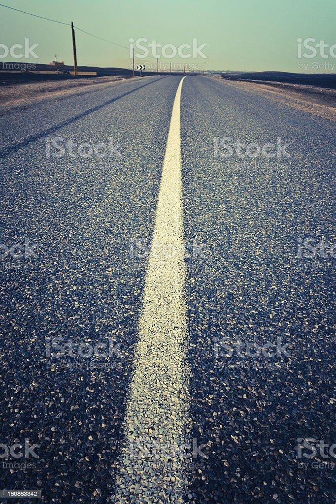 Desert Road Heading The Horizon royalty-free stock photo