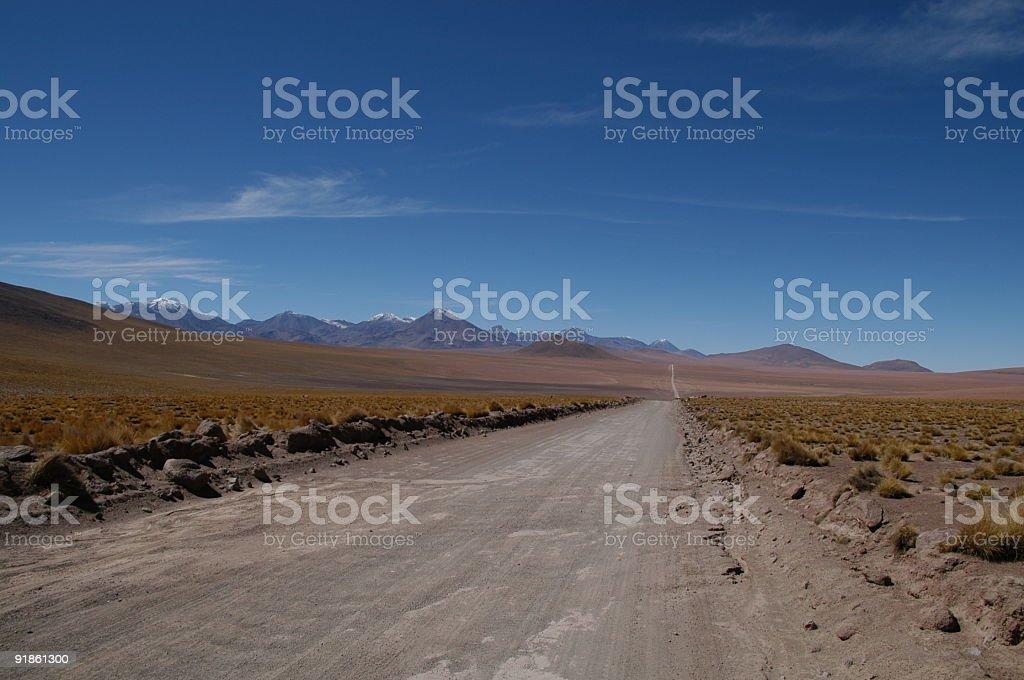 desert road in the atacama royalty-free stock photo