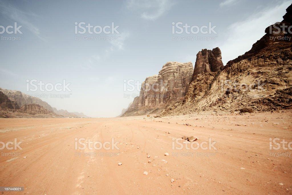 Desert road landscape background royalty-free stock photo