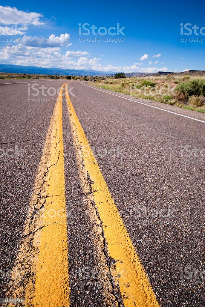 desert road landscape royalty-free stock photo
