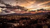 Desert road sunrise