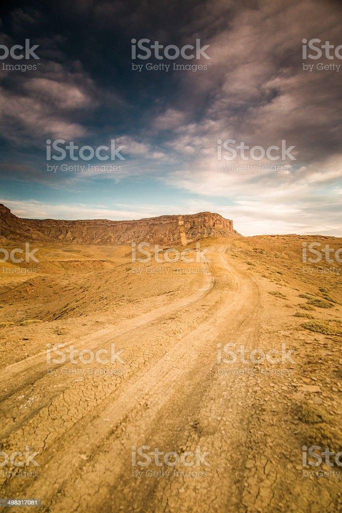 desert road trip adventure stock photo