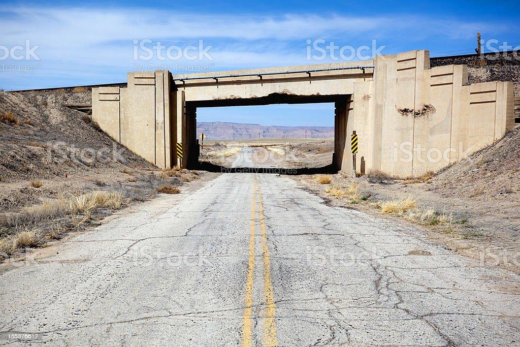 desert road trip landscape stock photo