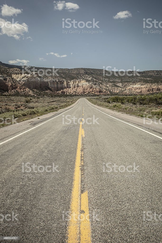 desert road trip royalty-free stock photo