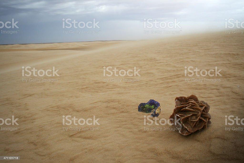 Desert rose and amethyst stock photo