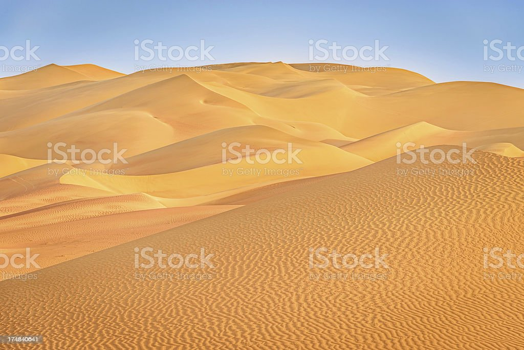 Desert Rub al-Khali Sand Dunes royalty-free stock photo