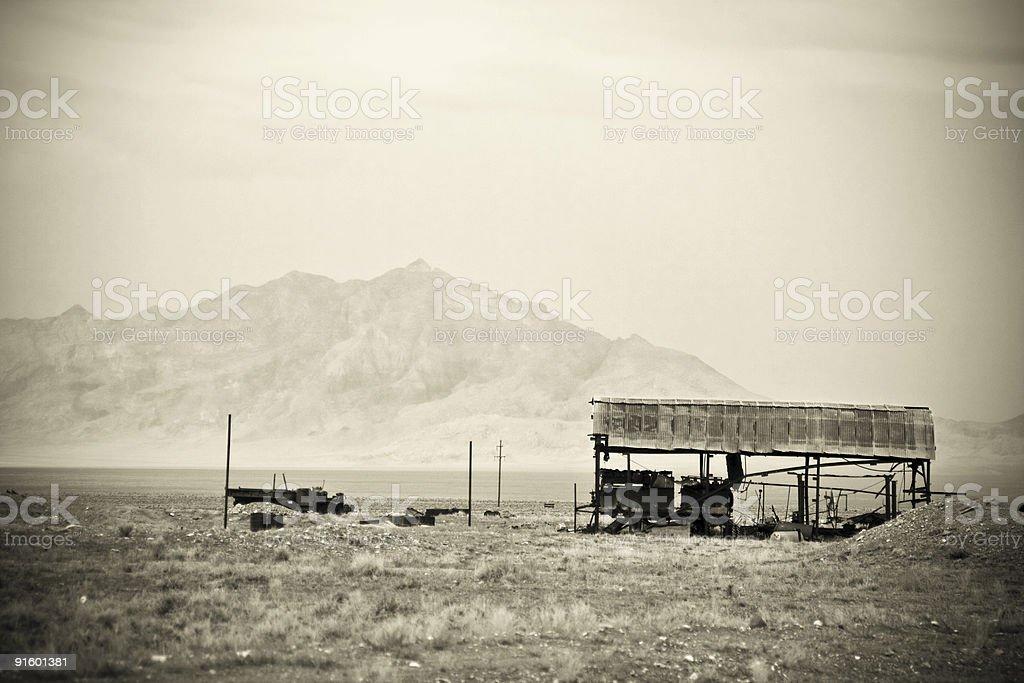 Desert Ruin Mine royalty-free stock photo