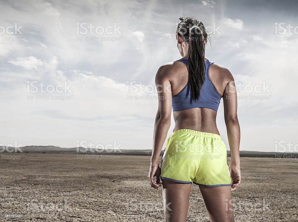 Desert Runner royalty-free stock photo