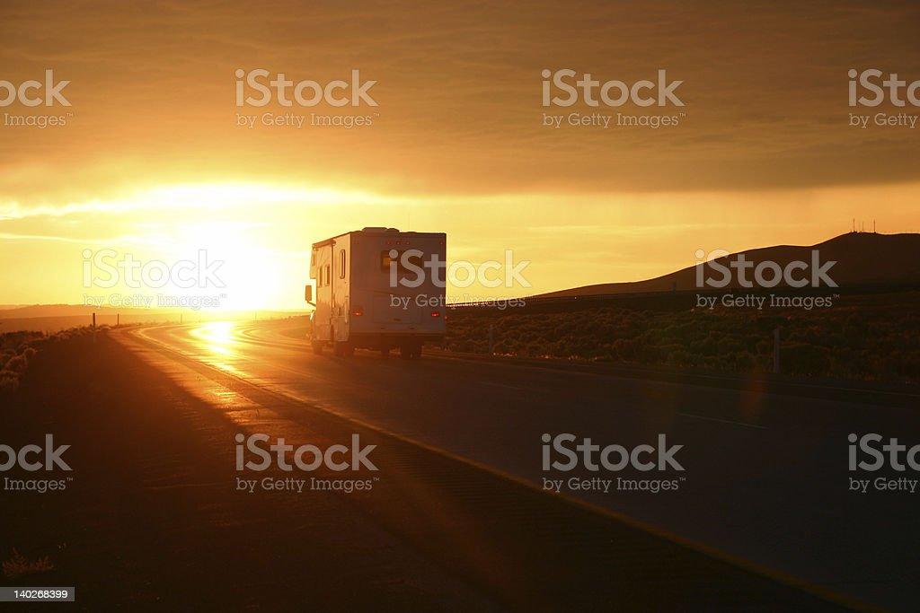 Desert RV Travel royalty-free stock photo