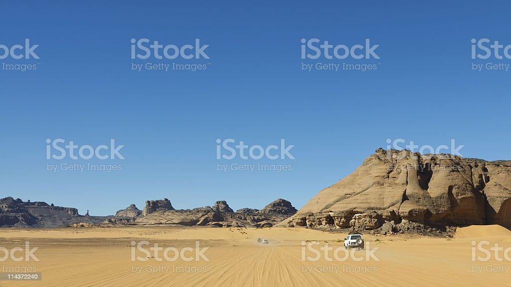 Desert Safari - Akakus, Sahara, Libya stock photo