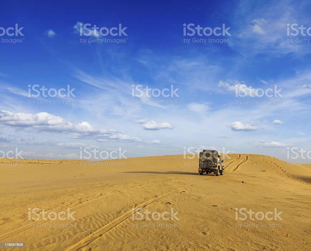 Desert safari  background stock photo