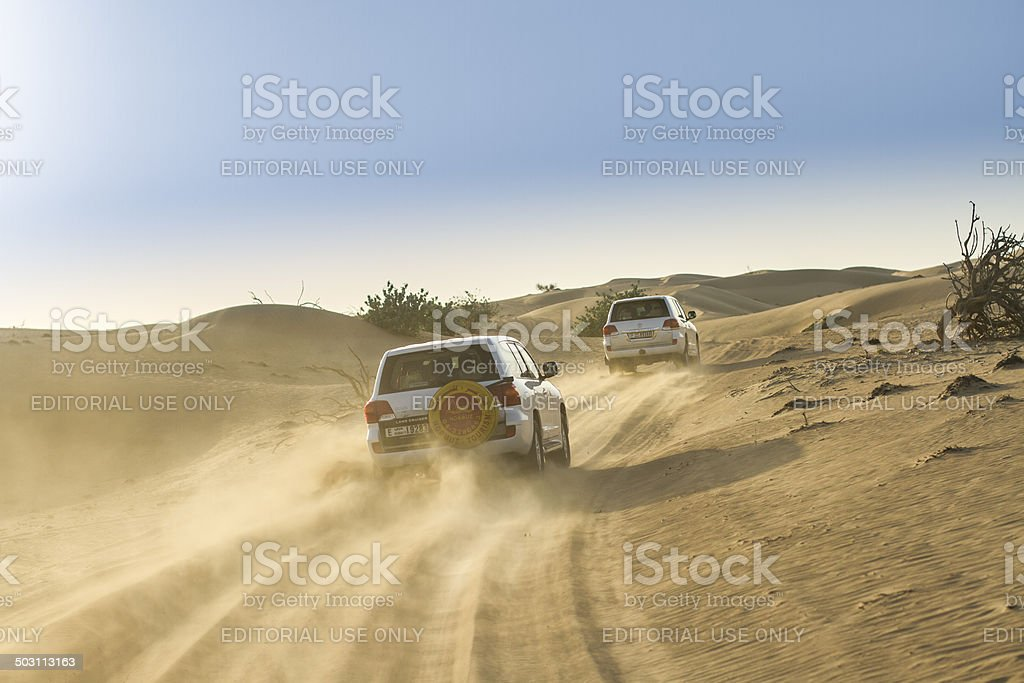Desert safari in the Middle East stock photo