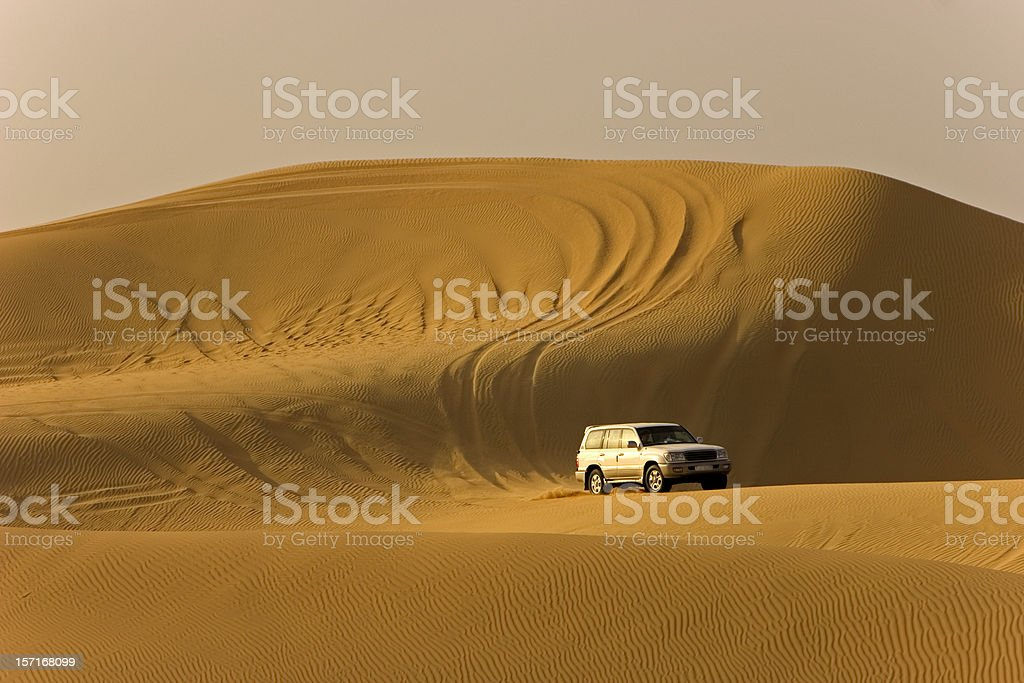 Desert safari landcruiser stock photo