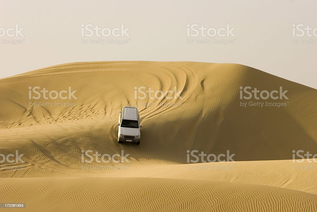 Desert safari landcruiser stock photo