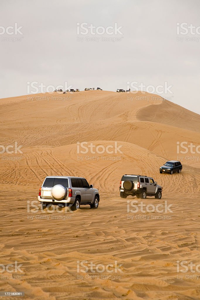Desert Safari Race Landcruiser stock photo