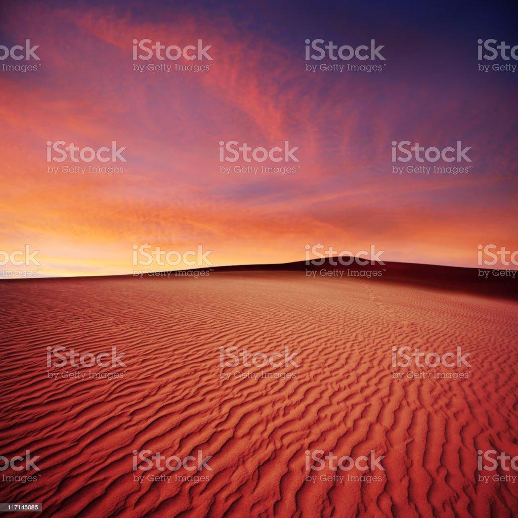XL desert sand sunset royalty-free stock photo