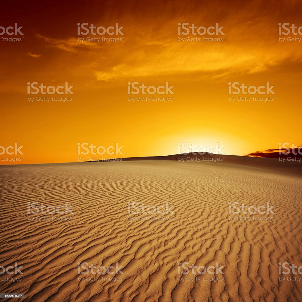 XL desert sand sunset stock photo