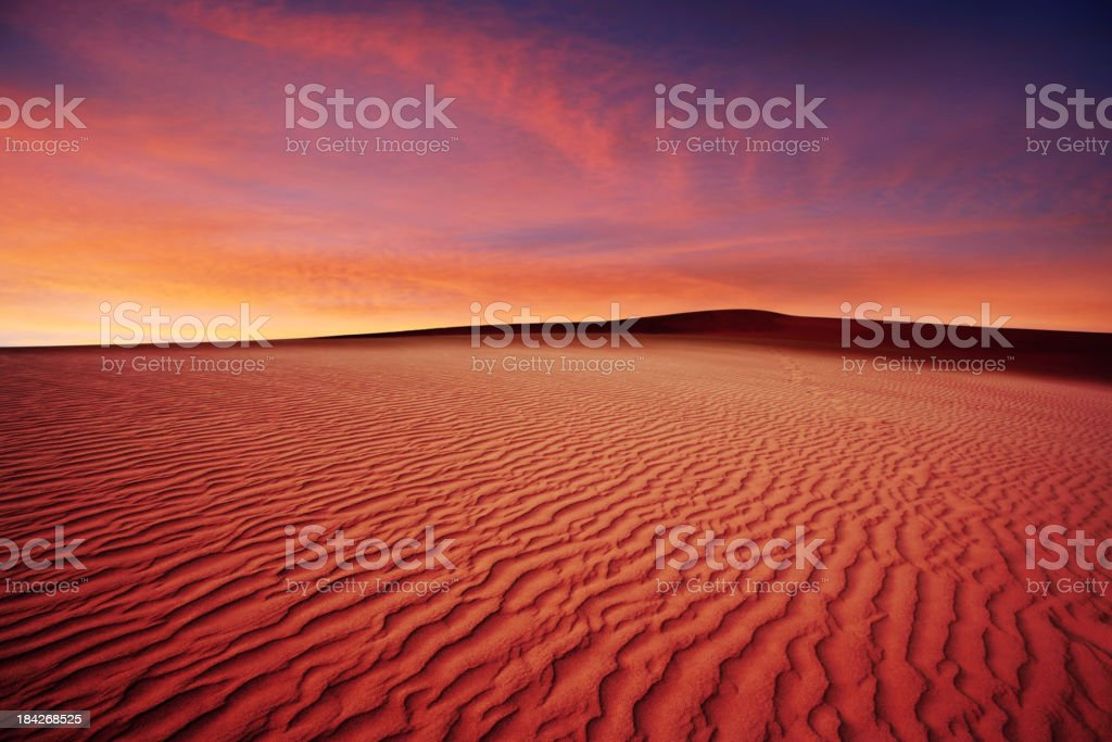 XL desert sand sunset stock photo