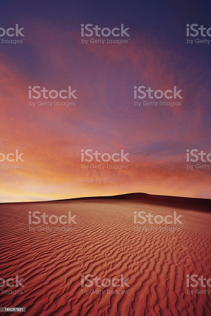 XL desert sand sunset royalty-free stock photo