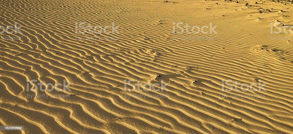 Desert sand und Wellen Struktur Lizenzfreies stock-foto