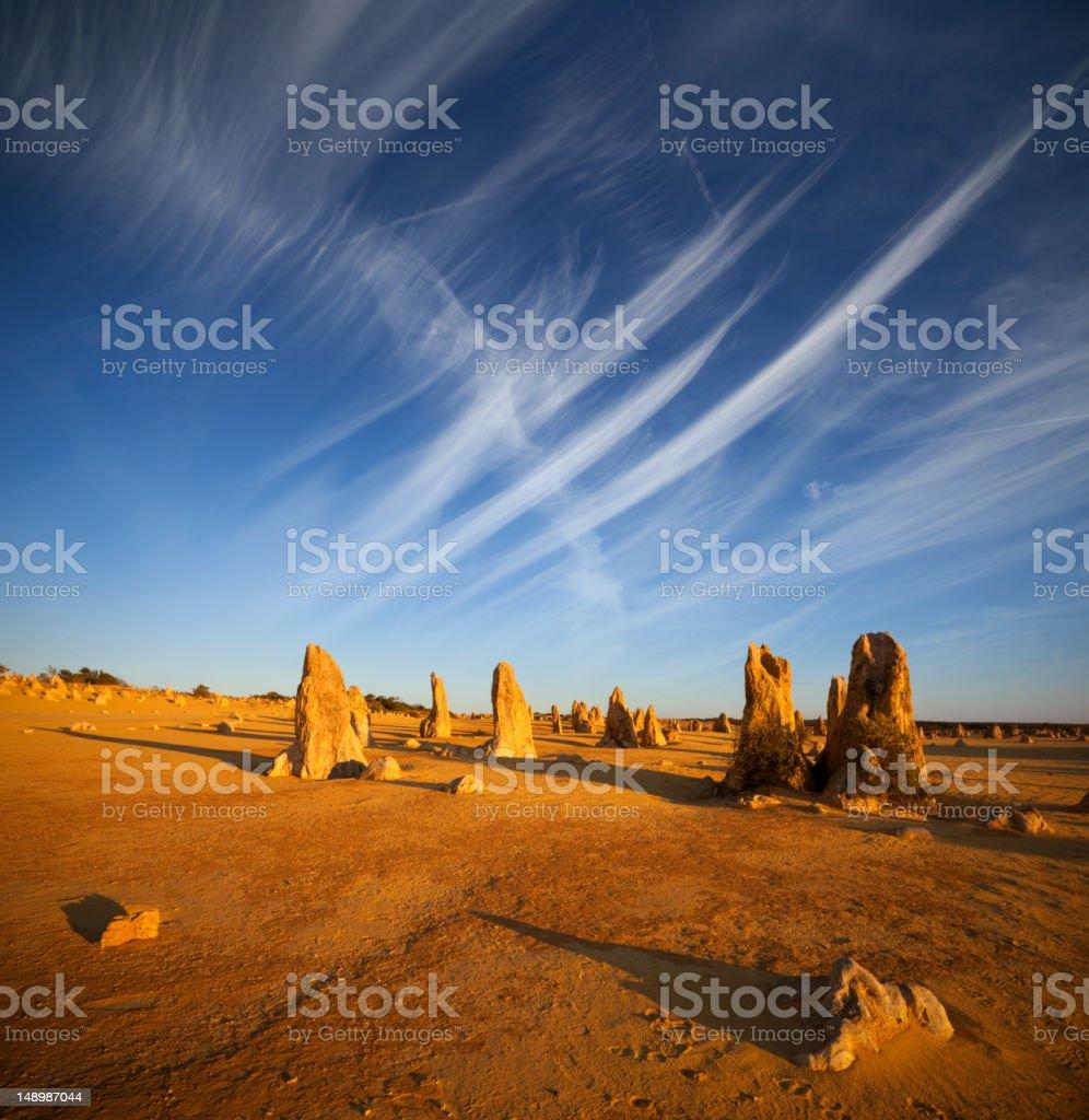 Desert scene at The Pinnacles in Western Australia stock photo