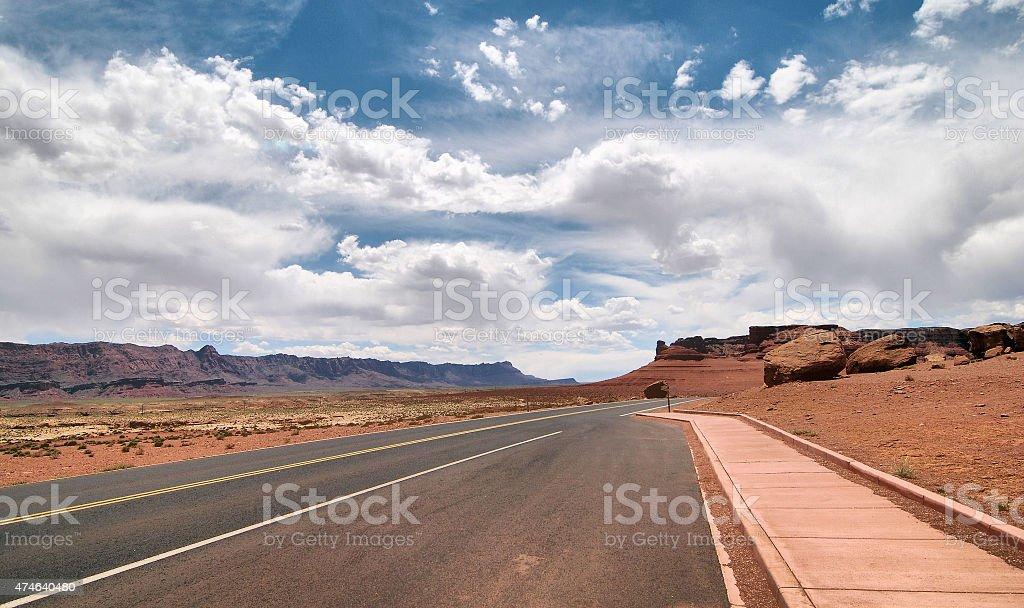 Desert Sidewalk stock photo