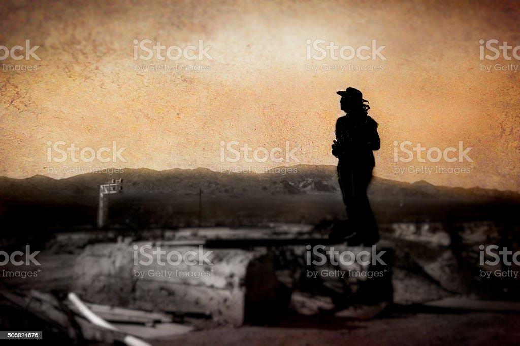 Desert Silhouette stock photo