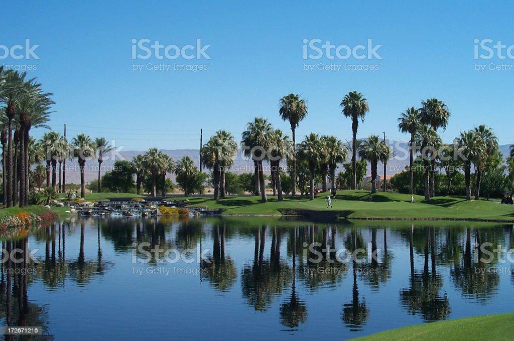 Desert springs golf stock photo