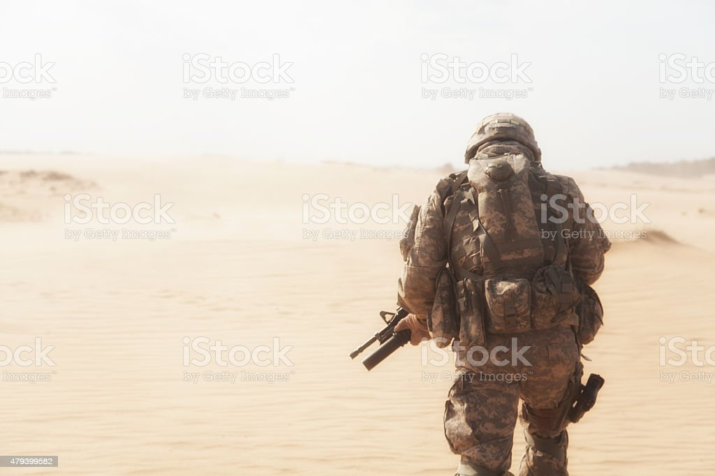 Desert storm stock photo