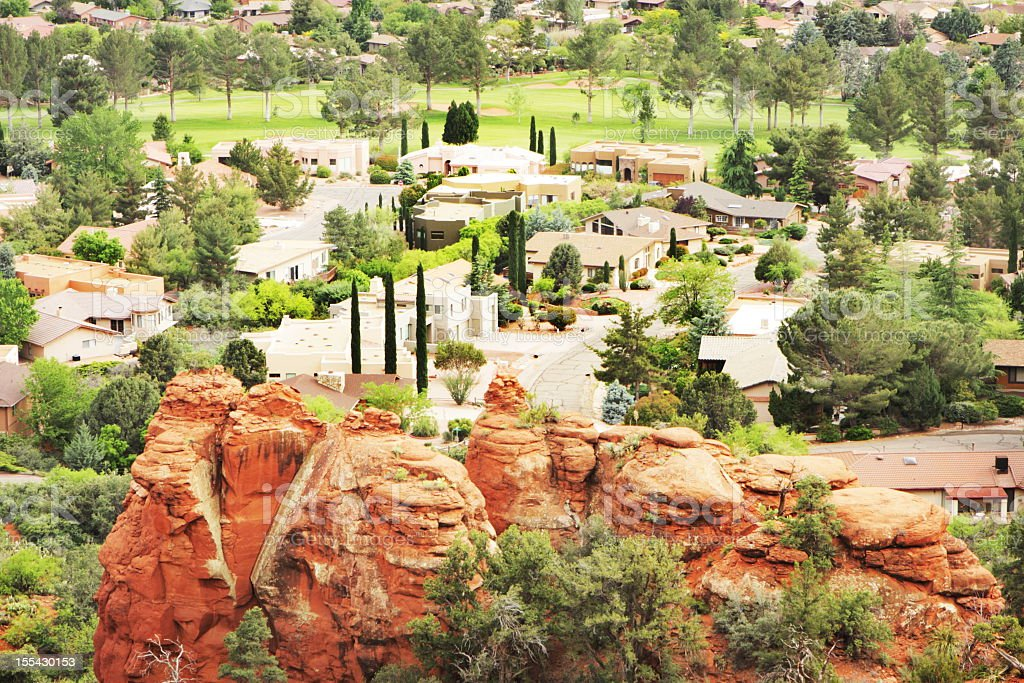 Desert Suburb Village Community royalty-free stock photo