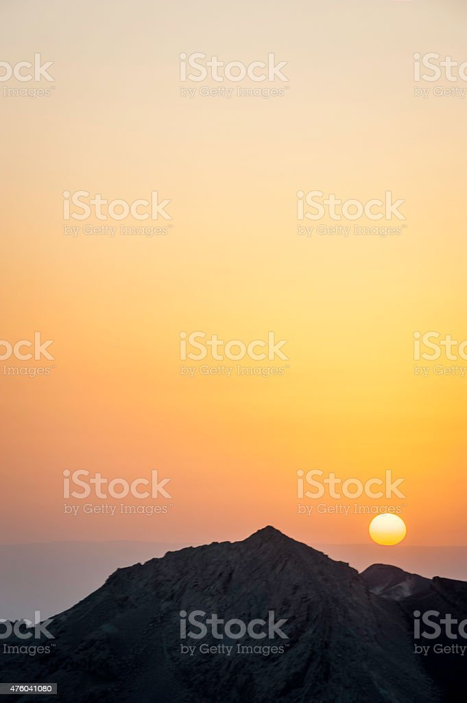 Desert Sunrise stock photo