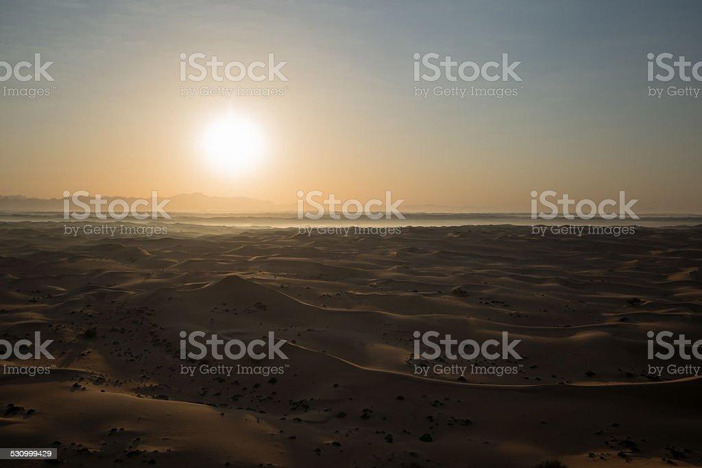 Desert sunrize stock photo