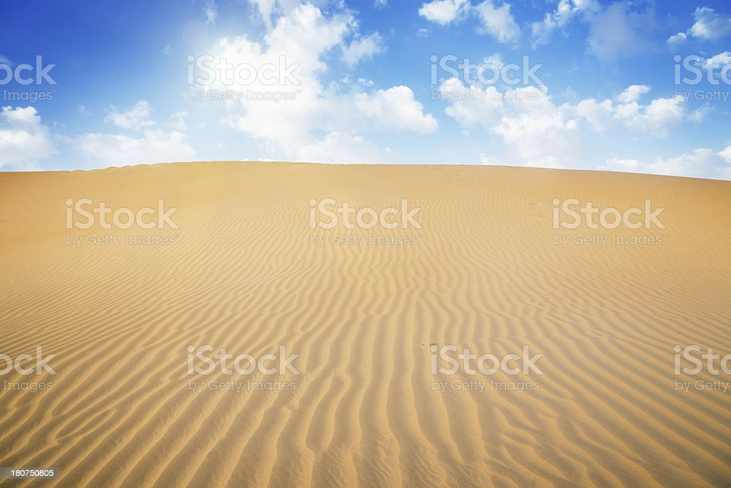 Desert Sun,Sand Dunes Landscape royalty-free stock photo