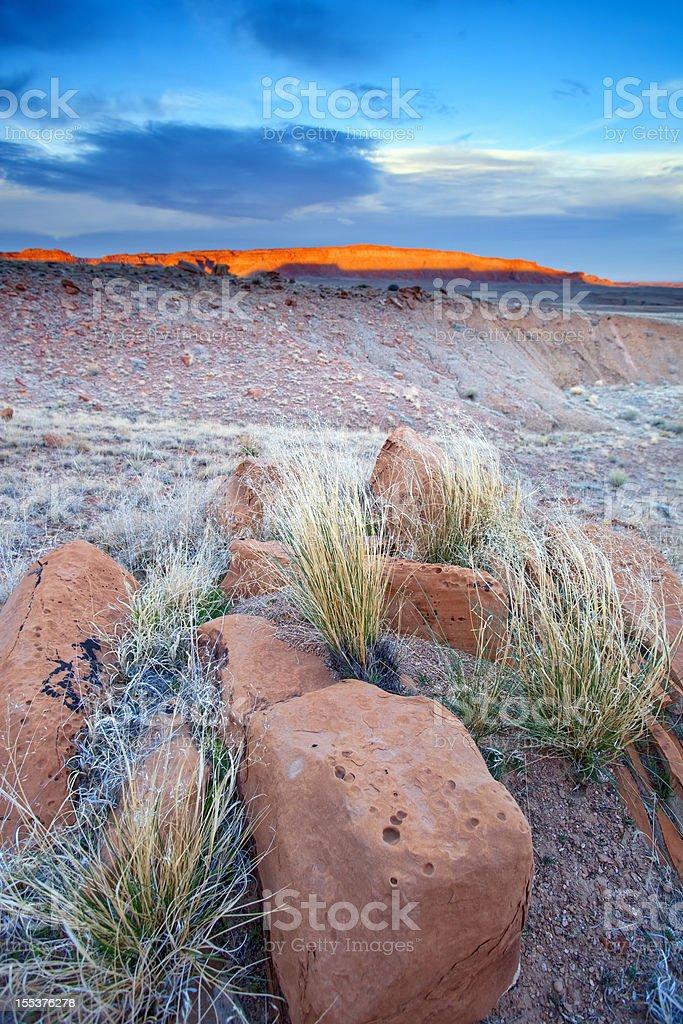 desert sunset landscape royalty-free stock photo
