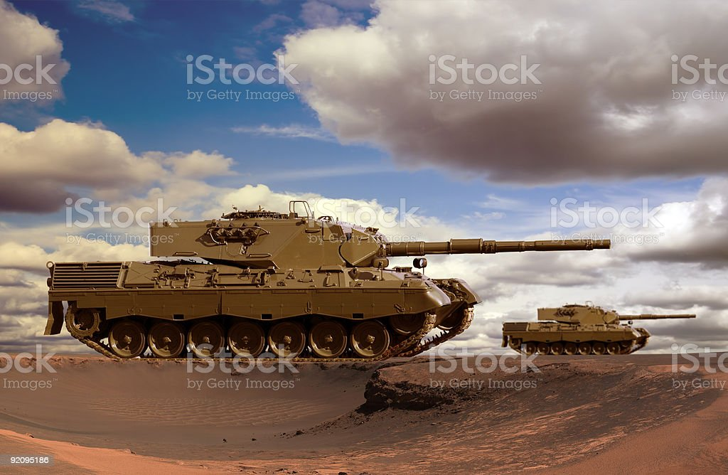 Desert Tanks stock photo