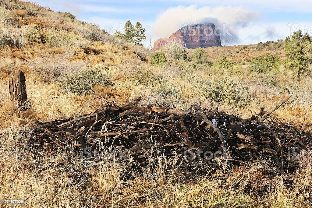 Desert Terrain Red Rock Butte royalty-free stock photo