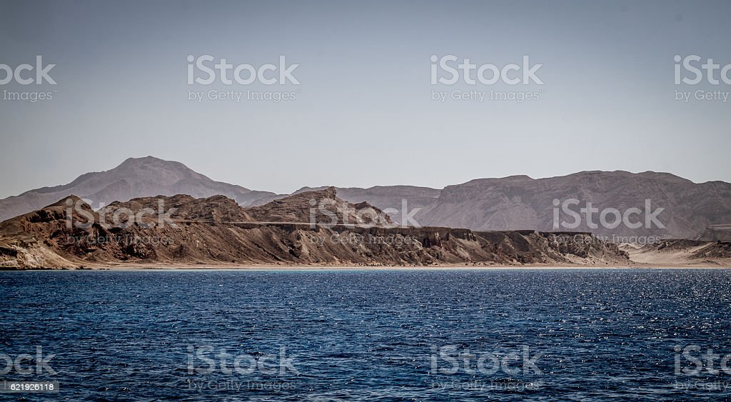 Desert Tiran island. Egypt, Sinai stock photo